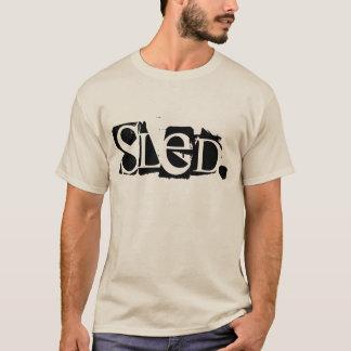 """""""Schlitten-"""" Sand farbige obere Halbinsel T-Shirt"""