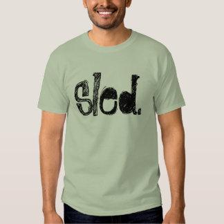 """""""Schlitten-"""" Steingrün färbte HERAUF Snowmobile-T T-Shirts"""