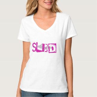 """""""Schlitten-"""" weiße Damen-oberes Halbinselt-shirt Shirt"""