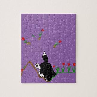 Schlittenhund im Flowerbed Puzzle