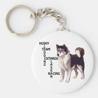 Schlittenhundkreuzworträtsel Schlüsselanhänger