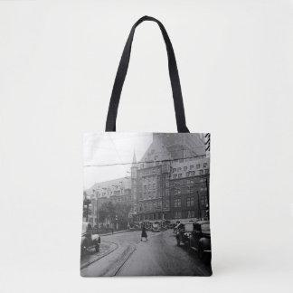Schloss-Auto-Straßendreißiger jahre Foto Quebecs Tasche