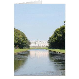 Schloss Benrath - Ansicht über Spiegel-Teich Karte