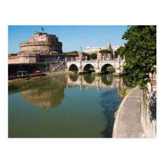 Schloss des heiligen Engels von einer Brücke Postkarten