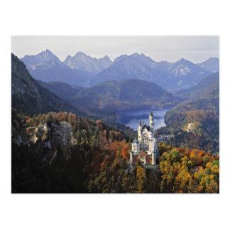 Schloss Deutschlands, Bayern, Neuschwanstein. Postkarte