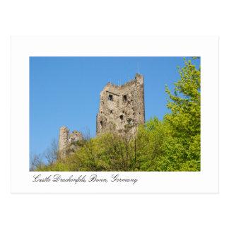 Schloss Drachenfels, Bonn Deutschland Postkarte
