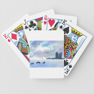 Schloss durch das Meer Bicycle Spielkarten