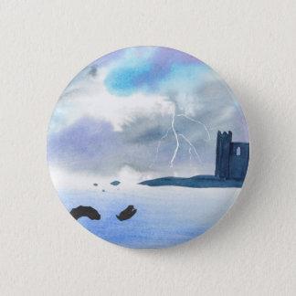 Schloss durch das Meer Runder Button 5,7 Cm