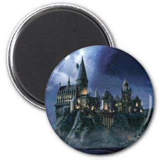 Schloss Harry Potters   Hogwarts nachts Runder Magnet 5,7 Cm