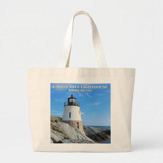 Schloss-Hügel-Leuchtturm, Rhode Island Jumbo Stoffbeutel