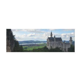 Schloss Neuschwanstein Leinwand-Panorama Leinwanddruck