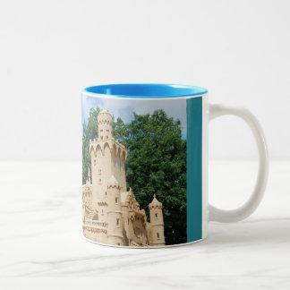 Schloß Neuschwanstein, Nachbildung aus Sand Zweifarbige Tasse