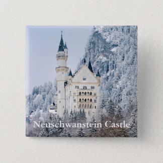 Schloss Neuschwanstein Quadratischer Button 5,1 Cm
