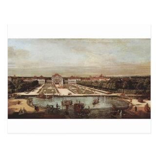 Schloss Nymphenburg durch Bernardo Bellotto Postkarte