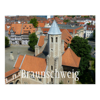 Schloss-Quadrat, Burgplaz, Braunschweig, Postkarte
