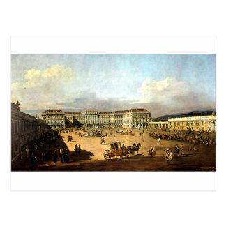 Schloss Schonbrunn durch Bernardo Bellotto Postkarte