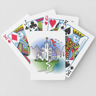 Schloss und Berge Bicycle Spielkarten