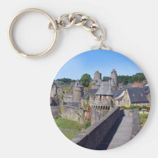 Schloss von Fougères in Frankreich Schlüsselanhänger