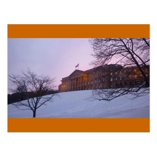 Schloss Wilhelmshoehe Kassel - Winter-Glück Postkarte
