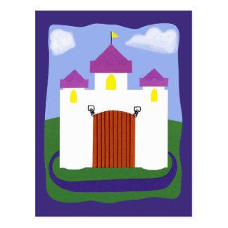 SchlossFairytale mit lila Drehköpfen Postkarte
