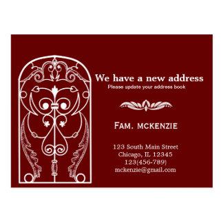 Schlossfenster neue Adresse Postkarte