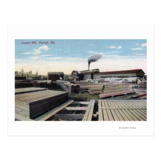 Schlucht-Bauholz-Mühlszene Postkarte