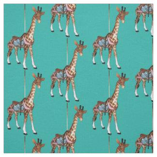 Schlucht-Echo-Giraffe - heller Türkis Stoff