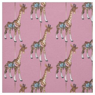 Schlucht-Echo-Giraffe - Rosa Stoff