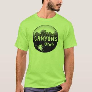 Schlucht-Utah-Skifahrer T-Shirt