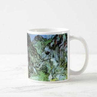 Schlucht Van Gogh Les Peiroulets, Vintage feine Kaffeetasse