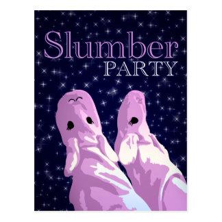 Schlummer-Party Einladungen: nightshine Postkarte