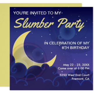 Schlummer-Party-Geburtstag des Sleepover-Party-| Karte