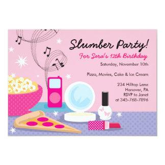 Schlummer-Party-Geburtstags-Einladungen 12,7 X 17,8 Cm Einladungskarte