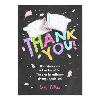 Schlummer-Party Pyjamas danken Ihnen, Sleepover zu Karte