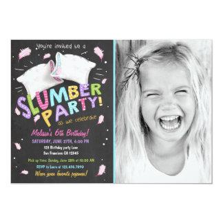 Schlummer-Party-Pyjamassleepover-Einladung 12,7 X 17,8 Cm Einladungskarte