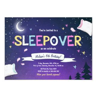 Schlummer-Party-Pyjamassleepover-Einladung Karte