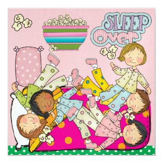 Schlummer-Party - Schlaf vorbei Quadratische 13,3 Cm Einladungskarte