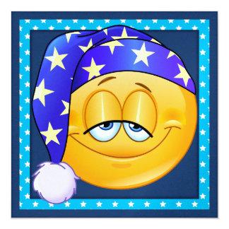 Schlummer-Party/Schlaf vorbei - SRF Quadratische 13,3 Cm Einladungskarte