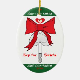 Schlüssel für Sankt (LA Boo mit Liebe) Ovales Keramik Ornament