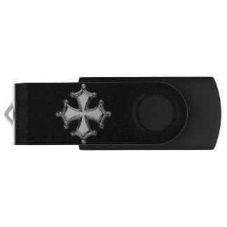 Schlüssel USB Kreuz schwarzes und weißes occitane USB Stick
