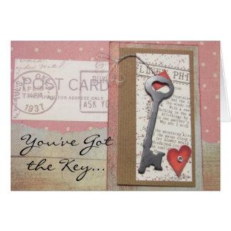 Schlüssel zu meiner Herz-Liebe-Karte Grußkarte