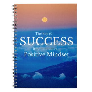 Schlüssel zum Erfolgs-inspirierend Zitat Spiral Notizblock