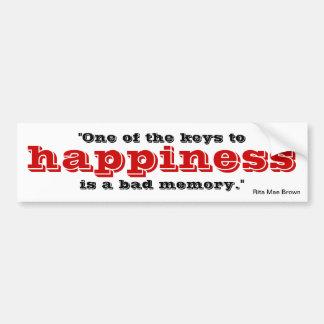 Schlüssel zum Glück Autoaufkleber