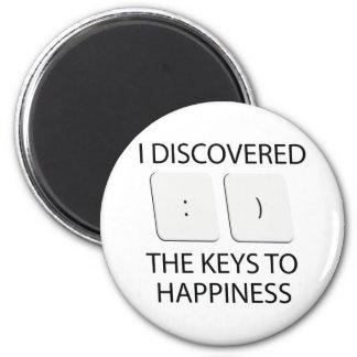 Schlüssel zum Glück Runder Magnet 5,7 Cm