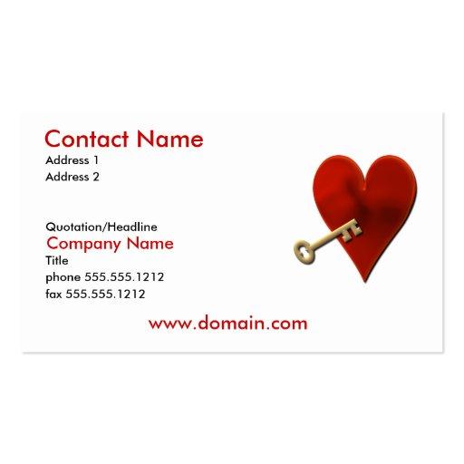 Schlüssel zur Herz-Visitenkarte