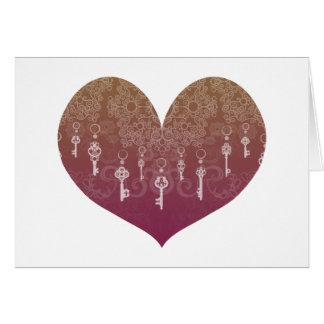 Schlüssel zur Liebe Grußkarte