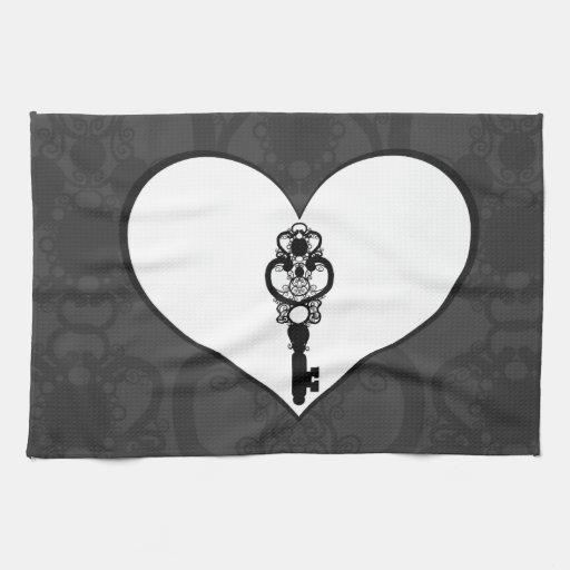 Schlüssel zur Liebe I Küchenhandtuch