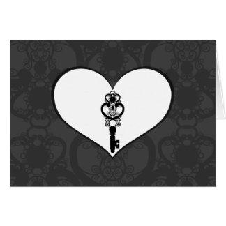 Schlüssel zur Liebe I Grußkarte