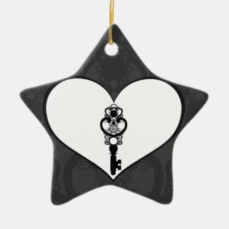 Schlüssel zur Liebe I Keramik Stern-Ornament