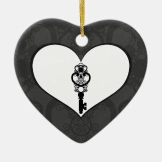 Schlüssel zur Liebe I Keramik Herz-Ornament